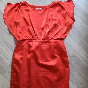 Calvin Klein Red Dress with Flare Sleeves